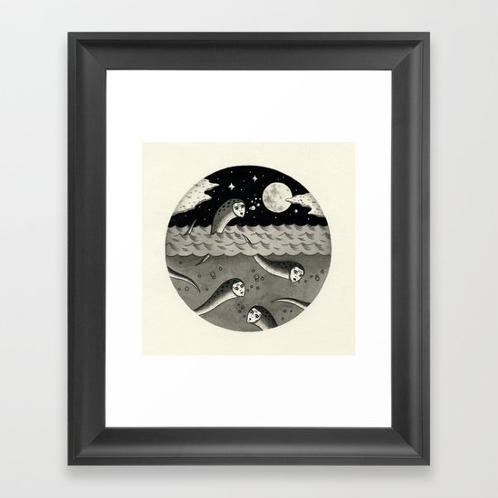 Convening on the Full Moon Framed Art Print