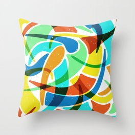 Friendly Chaos Throw Pillow