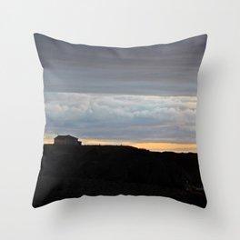 The Edge of Land Throw Pillow