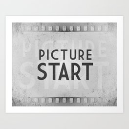 Picture Start Frame Art Print