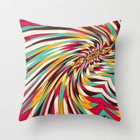 Throw Pillows featuring Vanishing Point by Danny Ivan