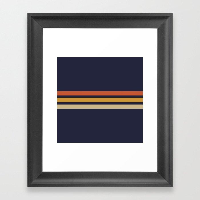 Vintage Retro Stripes Gerahmter Kunstdruck