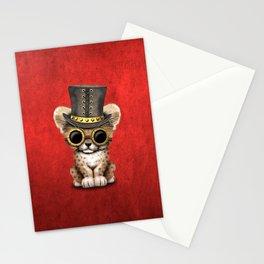 Steampunk Baby Cheetah Cub Stationery Cards