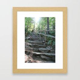 Stepping Up Framed Art Print