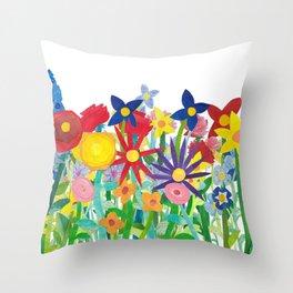 Flowery Bouquet Throw Pillow
