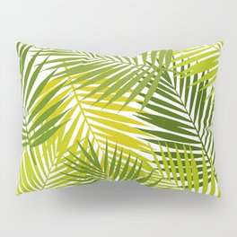 Palm leaf silhouettes seamless pattern. Tropical leaves. Pillow Sham