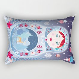 Our Lady of Winter Rectangular Pillow