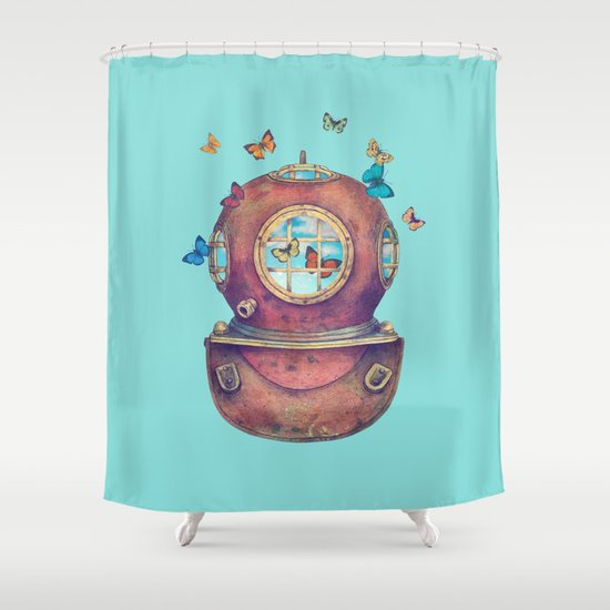 Inner Space - colour option Shower Curtain