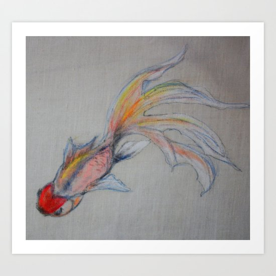 Goldfish Pond (close up #3) Art Print