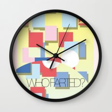 WHOFARTED? Wall Clock