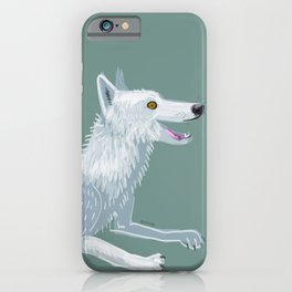 Totem Canadian wolf 1 iPhone Case