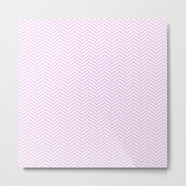 Modern Pink Chevron Pattern Abstract Hipster Lines Metal Print