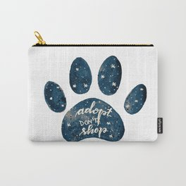 Adopt don't shop galaxy paw - blue Carry-All Pouch