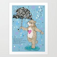 Mister Bear Art Print