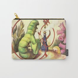 Alice & The Hookah Smoking Caterpillar - Alice In Wonderland Carry-All Pouch