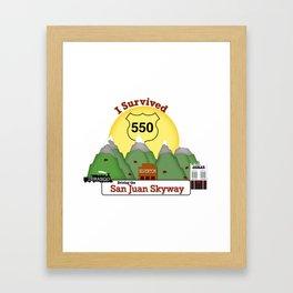 I Survived Hwy 550 Durango, Silverton & Ouray Colorado Framed Art Print
