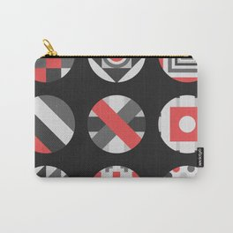 Geometric Circle Pattern Carry-All Pouch