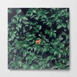 Orange horse in the bush Metal Print
