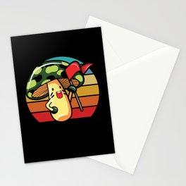 Mushroom Cartoon Lucky Mushroom Shirt Gift Stationery Cards