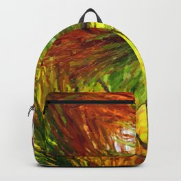 Pine branches with long and dense needles Backpack