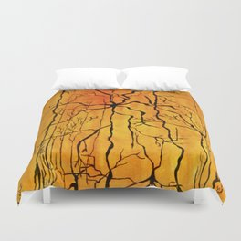 Neural Activity (An Ode to Cajal) Duvet Cover