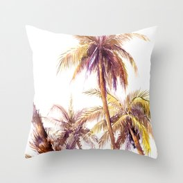 Palm Trees, coconut palms tropical beach palm tree Throw Pillow