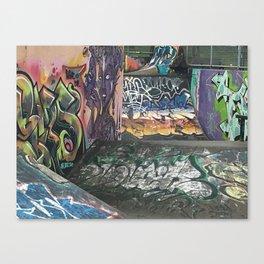 Skateboard Park Graffiti Canvas Print