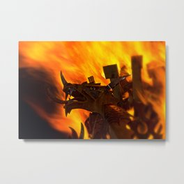 Rising From The Flames Metal Print