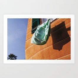 the green baize Art Print