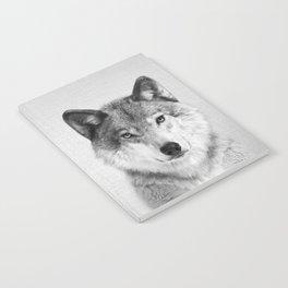 Wolf 2 - Black & White Notebook