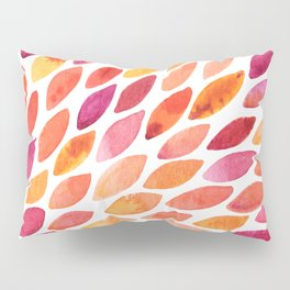 Watercolor brush strokes burst - autumn palette Pillow Sham