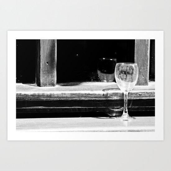 Fancy a glass of wine? Art Print