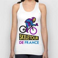tour de france Tank Tops featuring Skeletor Tour De France by Tabner's