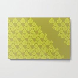 Green drops Metal Print