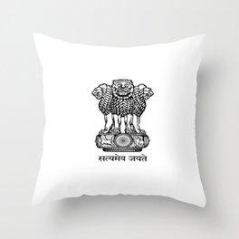 emblem of India. Throw Pillow