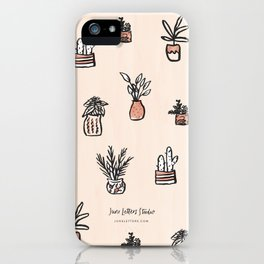 Little Potted Plants iPhone Case