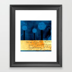 The Three Trees - a48b Framed Art Print