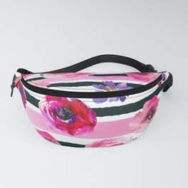 Bold Stripes and Florals Fanny Pack
