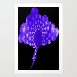 Star Spangled Lightning Cloud Art Print