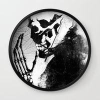 skeleton Wall Clocks featuring Skeleton by Jaaaiiro