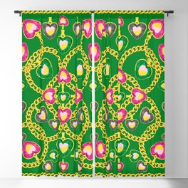 Golden Chains and Luxurious Jewelry Pattern Blackout Curtain