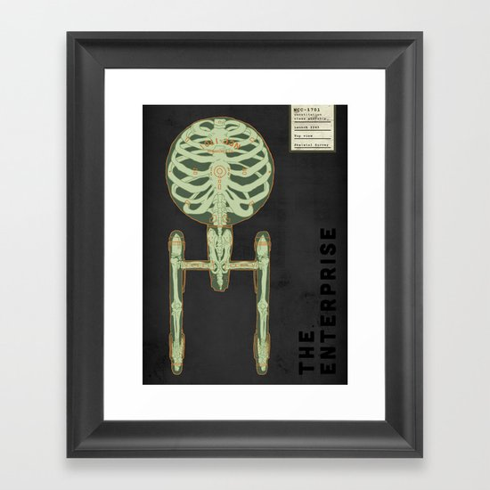 Spaceship Skeletal Survey: The Enterprise Framed Art Print