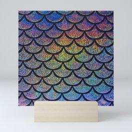 Cobalt Cantaloupe Scales Mini Art Print