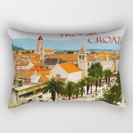 Cityscape of Trogir Croatia Rectangular Pillow