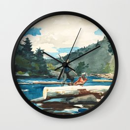 Logging on the Hudson River Wall Clock