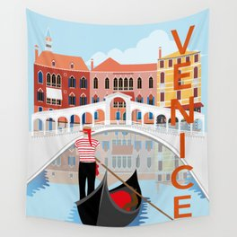 Venice Art Print Wall Tapestry