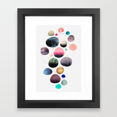 My favorite pebbles Framed Art Print