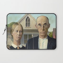 American Gothic Painting Laptop Sleeve