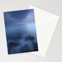 """Blue sea"". Blue hour. Stationery Cards"