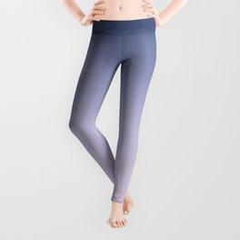 Blue Lilac Millennial Pink Ombre Gradient Pattern Leggings